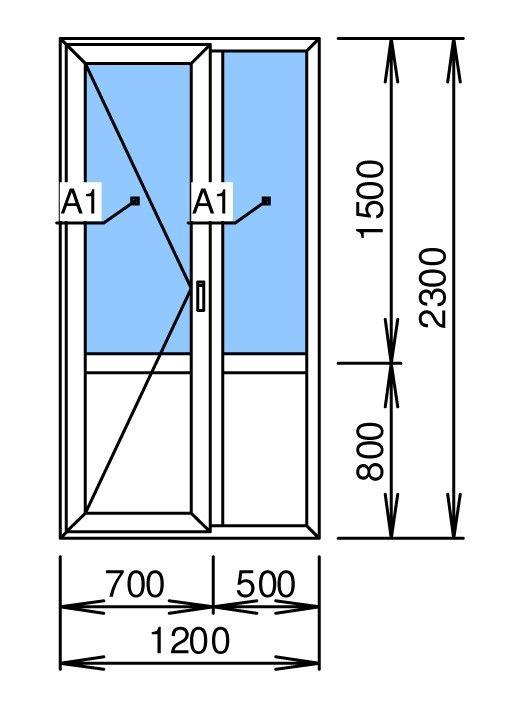 Балконная дверь цена 12 000 руб., купить в дзержинске от ком.